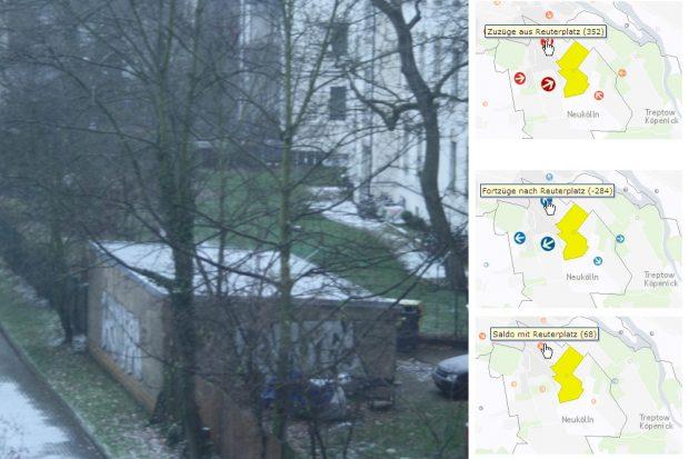 """Leipziger Schnee mit drei Beispielen aus dem alten """"hin&weg"""". Montage: L-IZ"""
