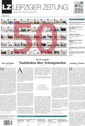 Das Titelblatt der Dezemberberausgabe der LEIPZIGER ZEITUNG. Screen PDF