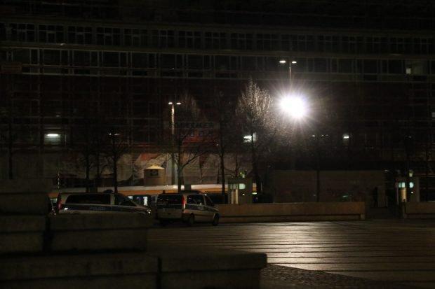 … und die Polizei ist auch schon da. Fotos: L-IZ.de