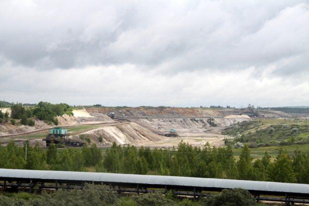 Blick in den Tagebau Vereinigtes Schleenhain. Foto: Matthias Weidemann