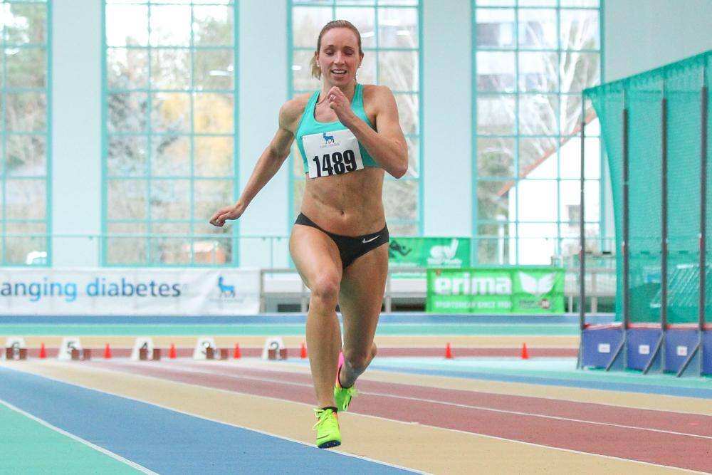 So schnell wie am Samstag war Cindy Roleder (SV Halle) zum Saisoneinstieg über 60 Meter noch nie. Foto: Jan Kaefer