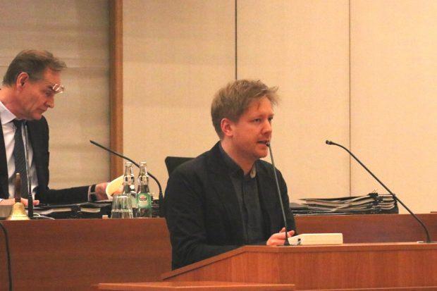 Daniel von der Heide (Grüne) im Stadtrat Leipzig. Foto: L-IZ.de