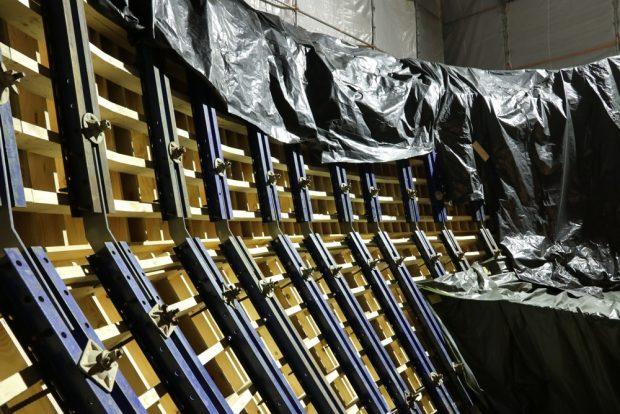 Der Unterbau der großen Kugel ist fertig. Foto: Michael Freitag
