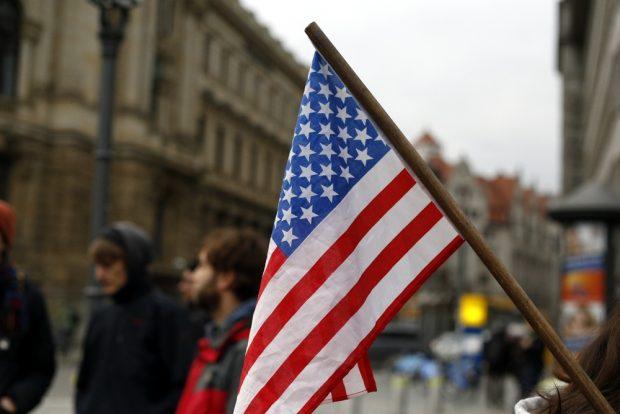 Eine Flagge des Anstoßes. Foto: Alexander Böhm