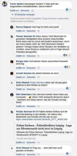 """Medien haben """"berichtet"""" und nun muss sich die Polizei gegen falsche Bilder erwehren. Screen Facebook Polizei Sachsen"""