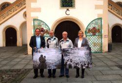 von links nach rechts: Steffen Fleischer, Wilfried Nadler, Peter Junge, Katrin Arndt. Foto: Landratsamt