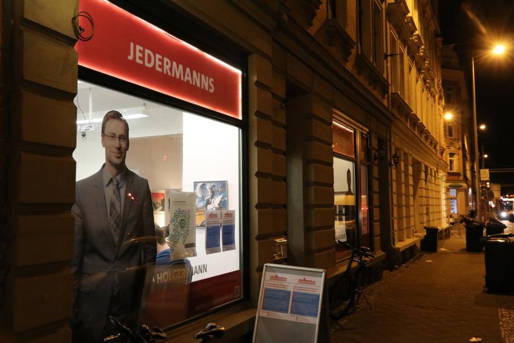"""Das """"Jedermanns""""-Bürgerbüro von Daniela Kolbe und Holger Mann in der Georg Schumann Straße. Foto: L-IZ.de"""