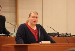 Nicole Wohlfahrt (SPD) im Stadtrat Leipzig. Foto: L-IZ.de
