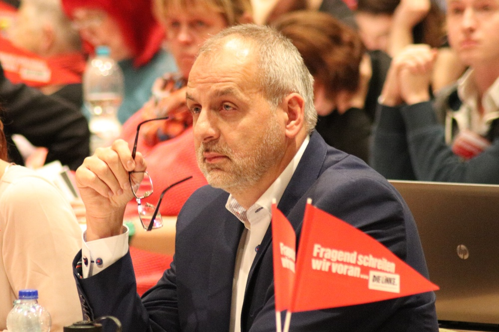 Rico Gebhardt, Fraktionsvorsitzender der Linkspartei im Landtag Sachsen. Foto: Michael Freitag