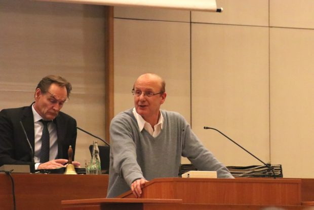 Steffen Wehmann (Linke) im Stadtrat Leipzig. Foto: L-IZ.de