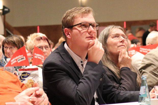 Valentin Lippmann (MdL, B90/Die Grünen) beim Parteitag der Linken am 4.11.2017 in Chemnitz. Foto: Michael Freitag