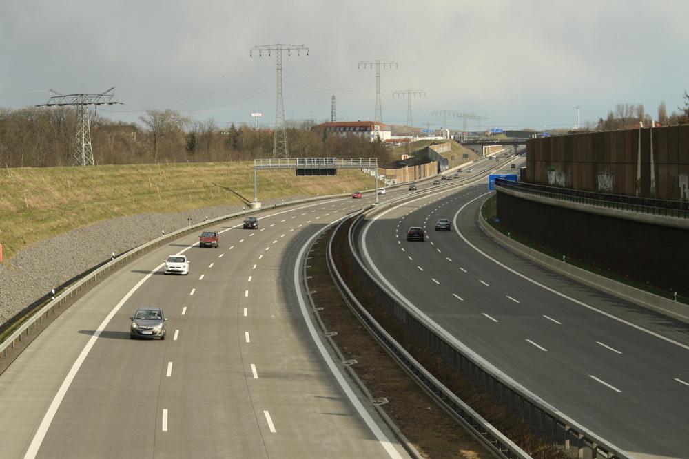 Autobahn im Leipziger Norden. Foto: Ralf Julke