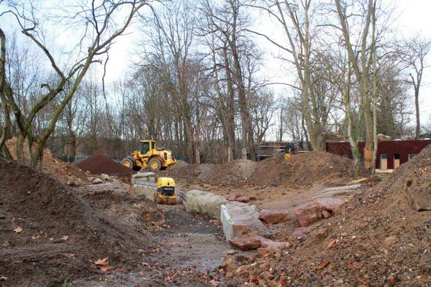 Arbeiten an der Südamerika-Baustelle. Foto: Zoo Leipzig