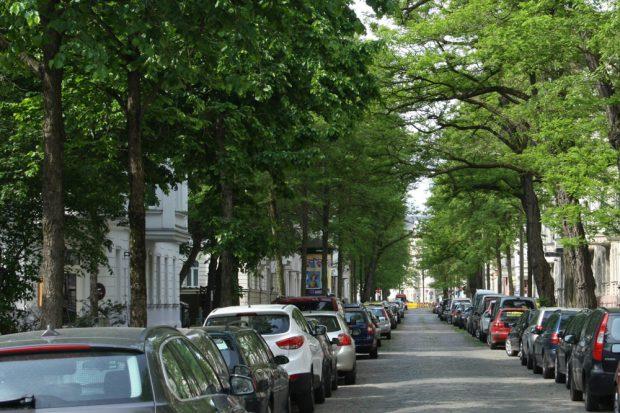 Hier ist es grün: Brockhausstraße in Schleußig. Foto: Ralf Julke