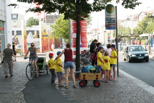 Brisanter Ort für Fußgänger in Connewitz. Foto: Ralf Julke