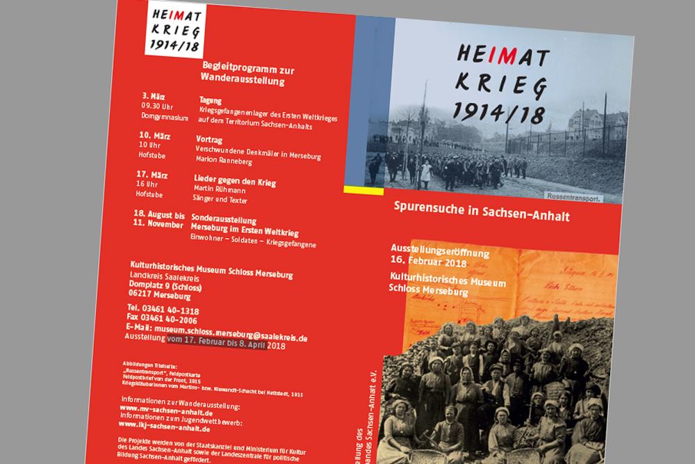 Einladungsflyer. Grafik: Kulturhistorisches Museum Schloss Merseburg