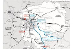 Die notwendigen Infrastrukturmaßnahmen im ZVNL-Netz. Karte: ZVNL