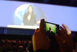 TV-Inszenierung beim Lichtfest 2015. Foto: Ralf Julke