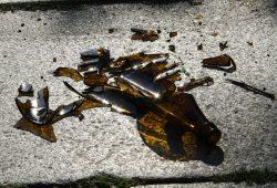 Das Ende einer Pfandflasche. Foto: Ralf Julke