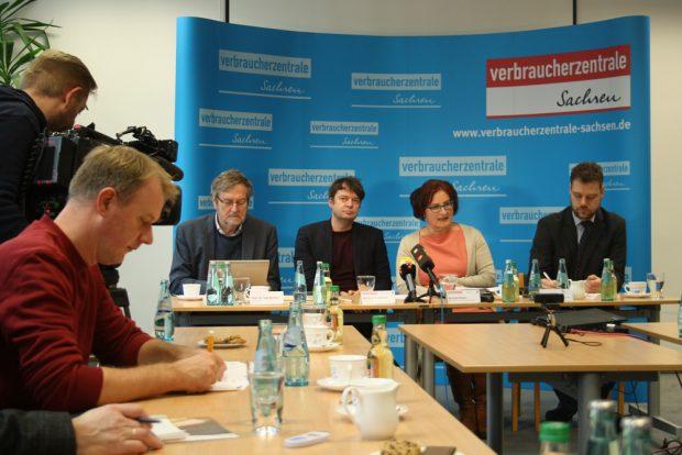 Pressetermin zur Gründung des Bündnisses gegen Wucher. Foto: Ralf Julke
