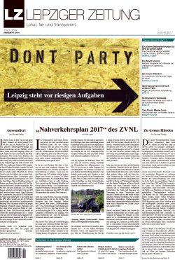 Das Titelblatt der LEIPZIGER ZEITUNG Nr. 51
