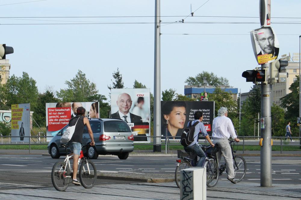 Schöne Wahlplakate. Foto: Ralf Julke