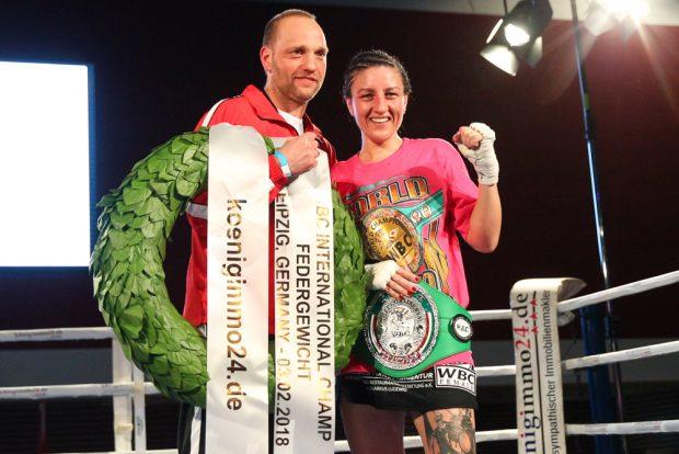 Erfolgsduo: Sandra Atanassow mit ihren Trainer Torsten Müller. Foto: Jan Kaefer