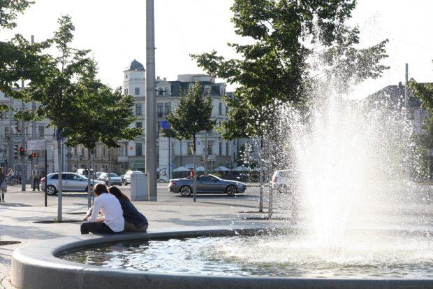Brunnen am Richard-Wagner-Platz. Foto: L-IZ.de