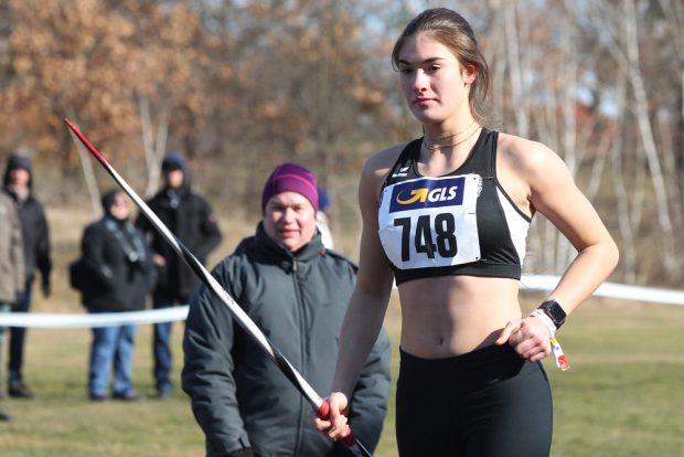 Lea Wipper (DHfK) wurde beim U18-Winterwurf ihrer Favoritenrolle gerecht. Foto: Jan Kaefer