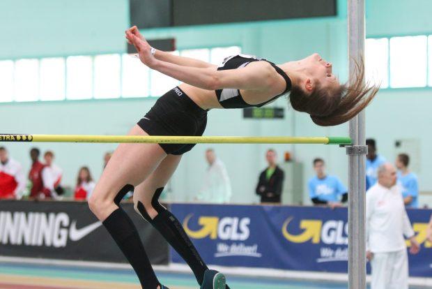Loreen Heinze (DHfK) sprang nur knapp an der erhofften Medaille vorbei. Foto: Jan Kaefer
