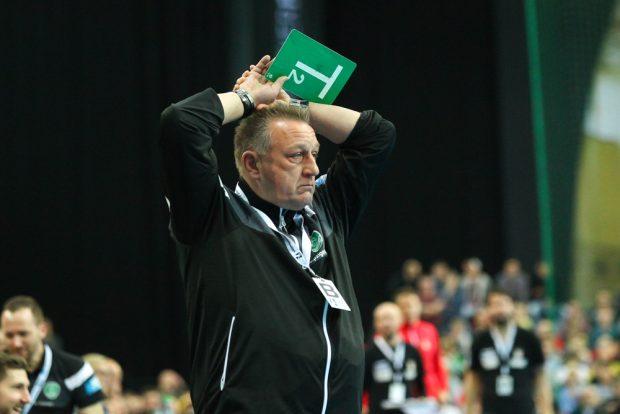 Der neue DHfK-Trainer Michael Biegler war nach dem Spiel einfach nur unzufrieden. Foto: Jan Kaefer