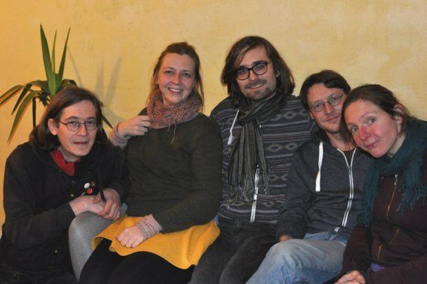 Daniel Schade (links) und ein Teil des Teams in der Ostpassage. Foto: Ostpassage