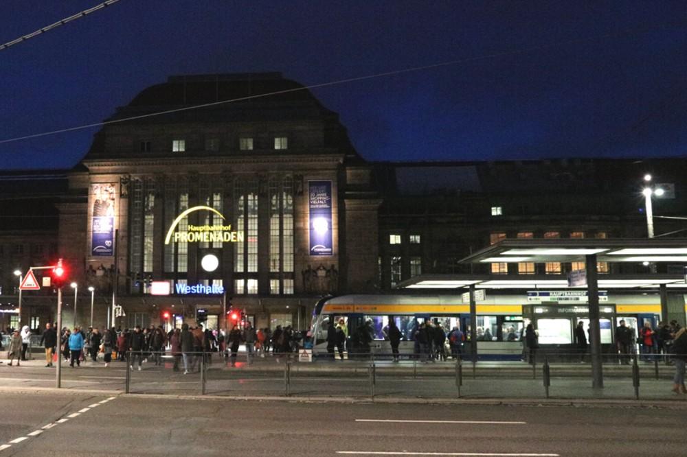 LVB-Haltestelle am Hauptbahnhof. Foto: L-IZ.de