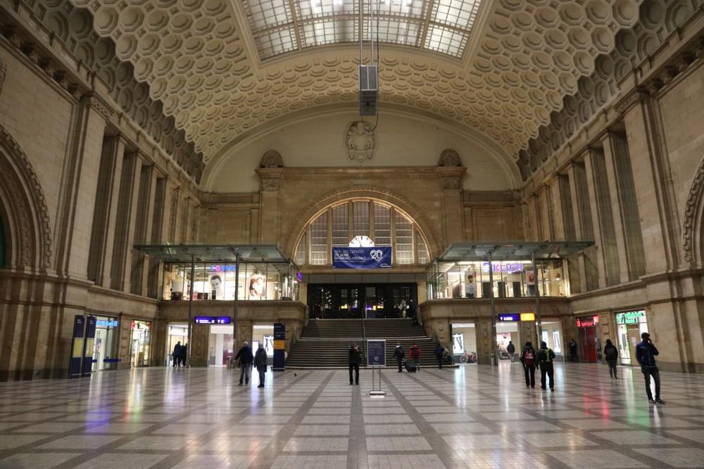 Hauptbahnhof Leipzig, Westhalle. Foto: L-IZ.de