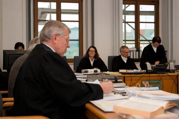 Im Gerichtssaal während des SDR-Prozesses. Foto: Michael Billig, muellrausch.de