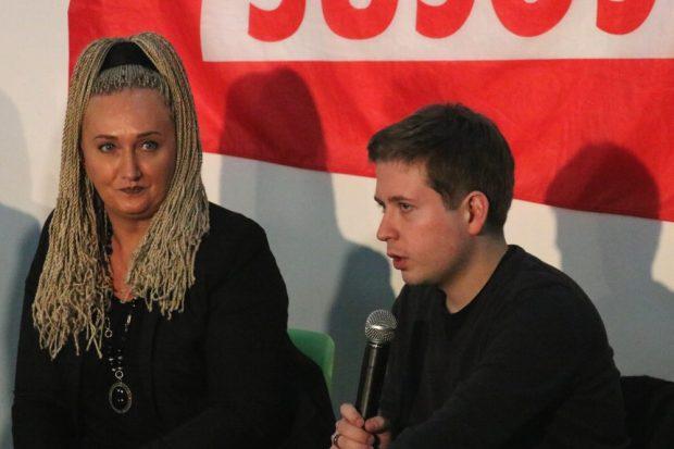 Irena Rudolph-Kokot und Kevin Kühnert. Foto: Michael Freitag