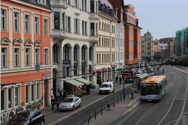 Die Nordseite des Lindenauer Marktes soll fußgängerfreundlich werden. Foto: L-IZ.de