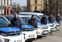 Seit 2018 mit der Bezeichnung Polizeibehörde unterwegs: die Mitarbeiter/-innen des Stadtordnungsamtes. Foto: Sebastian Beyer