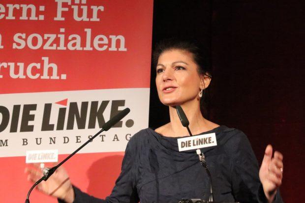 Anfang 2018 war Sahra Wagenknecht (MdB, Die LINKE) auf Einladung der Leipziger Linken im Felsenkeller. Foto: L-IZ.de