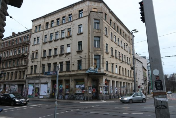 Der Eingang zur Wurzner Straße von der Breiten / Dresdner Straße aus. Foto: Michael Freitag