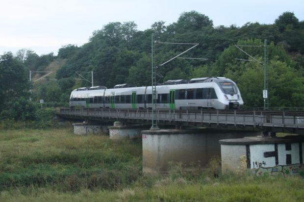 S-Bahn auf der Brücke über die Neue Luppe. Foto: Ralf Julke
