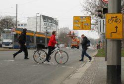 Auch ab hier soll es ein Stück Radstreifen geben. Foto: Ralf Julke