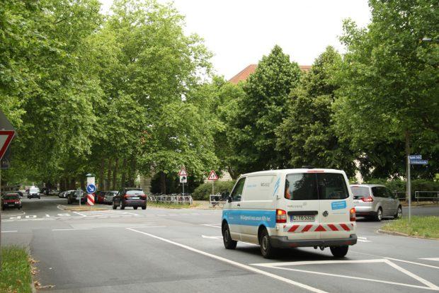 Naunhofer Straße stadteinwärts. Foto: Ralf Julke