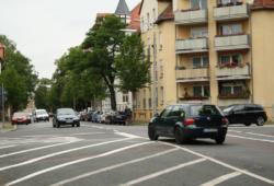 Kreuzung Ludolf-Colditz-Straße / Naunhofer Straße. Foto: Ralf Julke