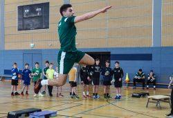 Lucas Krzikalla beim Sprungwurf,Foto: SC DHfK