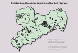 Treffobjekte der Rechtsextremen in Sachsen. Karte: Grüne Fraktion Sachsen