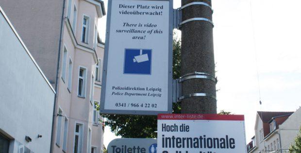 Videoüberwachung - hier am Connewitzer Kreuz. Foto: Ralf Julke