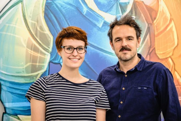 Sarah Bohnert und Lars Voigt. Foto: Andi Weiland