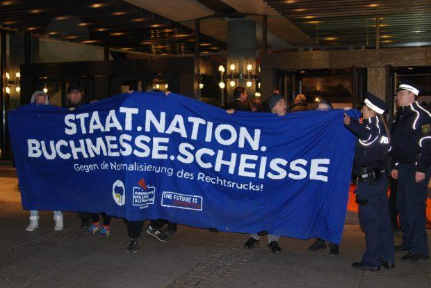 Protest gegen die Buchmesse. Foto: René Loch
