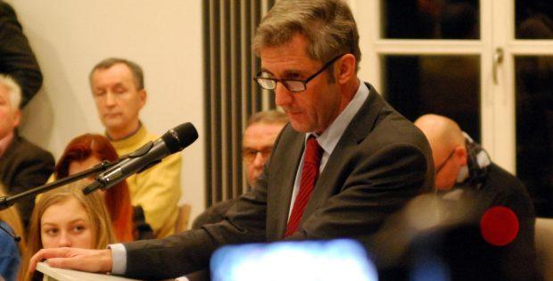 Frank Richter 2015 bei den Dialogversuchen in der Sächsischen Zentrale für politische Bildung. Foto: Michael Freitag